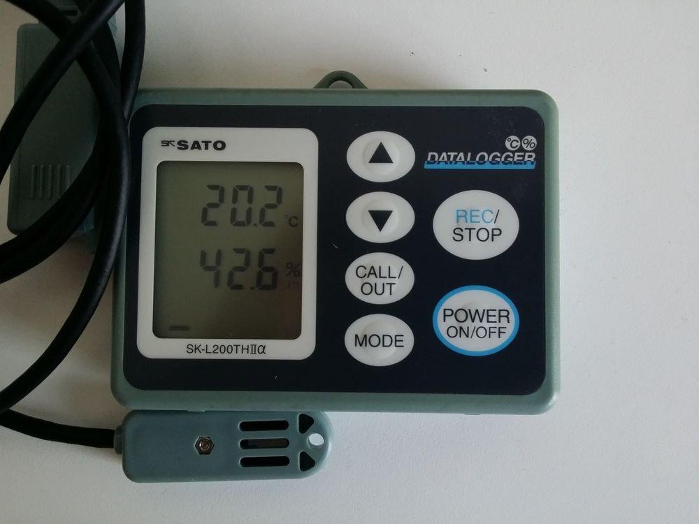 Used! SATO Temperature & Humidity DataLogger SK-L200TH II alpha