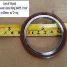 "KF-50 NW-50 Vacuum Center Ring 304 SS 1.969"" or 50mm  w/ O-ring (Lot of 10 pcs)"