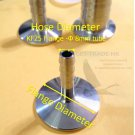 KF25 (NW25) Vacuum flange to Hose Adapter Flange  8mm diameter Tube