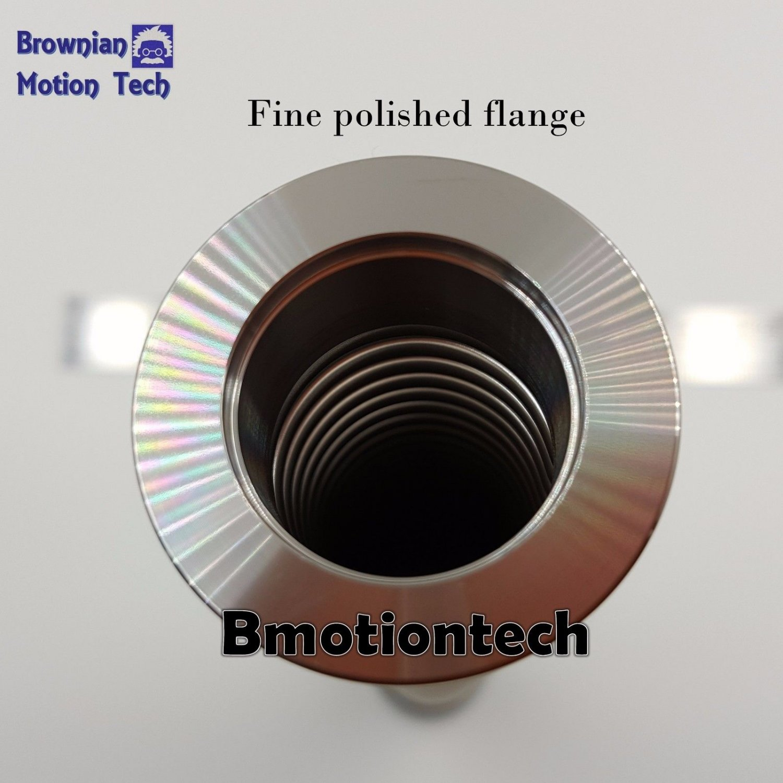 KF25 flange Stainless steel 304 vacuum flexible bellow hose wall thk = 0.2mm SHR