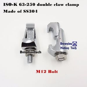 Double claw clamp for ISO-K 63-250 flange M8 BOLT, made of SS304