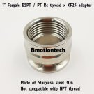 "Female BSPT 1"" X KF-25 stainless steel vacuum adapter BSPT = PT Rc thread"