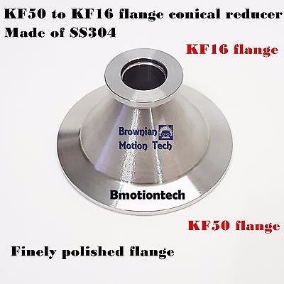 KF50 (NW50) to KF16 (NW16) Flange vacuum conical reducer, Stainless steel 304