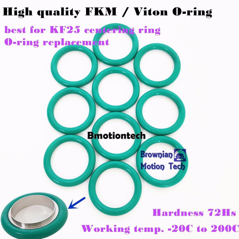 10 pcs KF25 flange centering ring O-ring / Material = FKM viton / Size AS-320