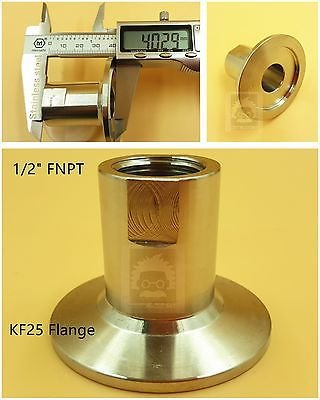 """Adapter KF40 to 1/2"""" NPT-Female, Stainless Steel 304, Good OEM replacement"""