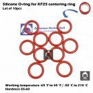 10 pcs KF25 flange centering ring O-ring / Material = Silicone / Size AS-320