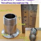 "Adapter KF25 to 3/4"" Male NPT, Heavy duty thick wall version, SS304 weight 110g"