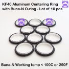 KF40 Aluminum Vacuum Centering Ring with O-ring = Buna-N  (10pcs pack)