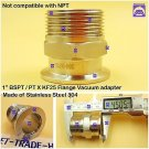 "Male BSPT 1"" X KF25 Flange stainless steel vacuum adapter BSPT = PT Rc thread"