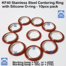 KF40 Stainless steel Vacuum centering ring with O-ring = Silicone (10 pcs pack)