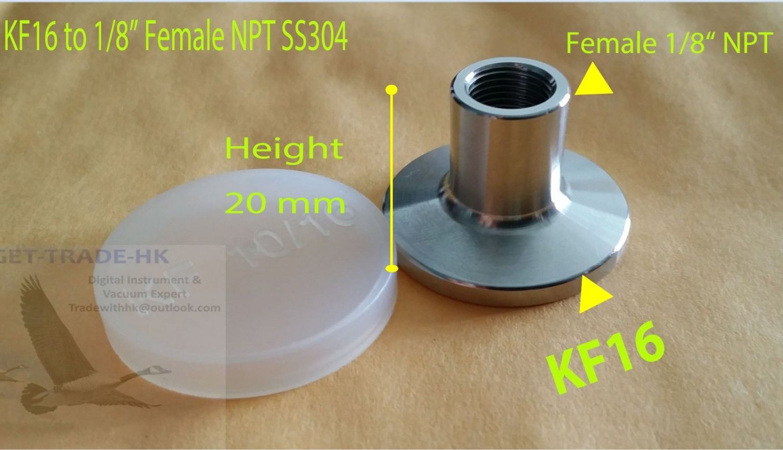 "Female BSPT 3/4"" X KF16 flange stainless steel vacuum adapter BSPT = PT Rc"