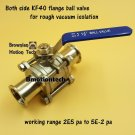 Ball Valve for rough vacuum isolation, both sides KF40 flange, SS304