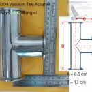 KF40(NW40) Tee adapter, 3-ways all ends KF40 Flange , SS 304