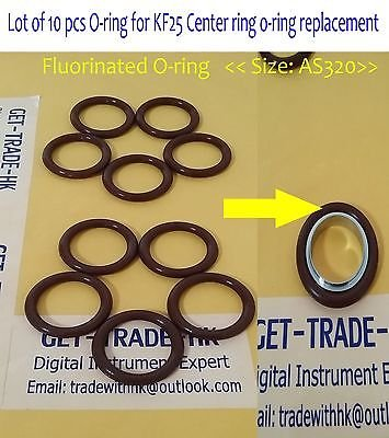 10 pcs KF25 flange centering ring O-ring / Material = Buna-N / Size AS-320