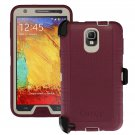 New Otterbox Defender Case with Belt Clip Holster for Galaxy Note 3 - Merlot