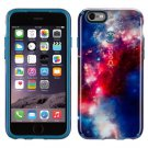 New SuperNova Red Pattern / Tahoe Blue CandyShell Inked Case for Apple iPhone 6