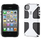Brand New  Case for Apple iPhone 4 4S White  Black CandyShell Grip