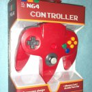 Brand New n64 Controller (Nintendo 64) Classic Joypad Design RED