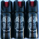 Brand New 3 PACK POLICE MAGNUM OC-17 MACE PEPPER SPRAY 2 OUNCE SAFETY LOCK