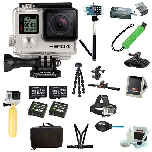 Brand New GoPro HERO4 BLACK Edition Camera HD Camcorder + Deluxe Kit