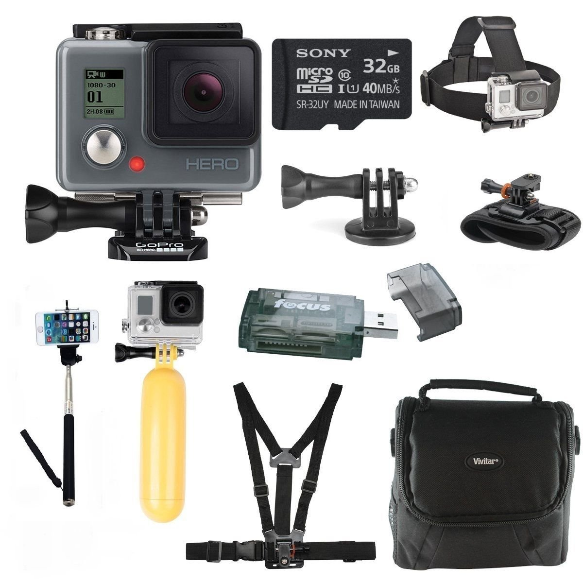 Brand New GoPro HERO HD with 64GB Deluxe Accessory Bundle