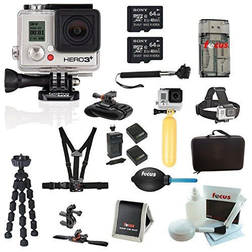 Brand New GoPro HERO3+ Silver Edition Camera+Deluxe Accessory Kit