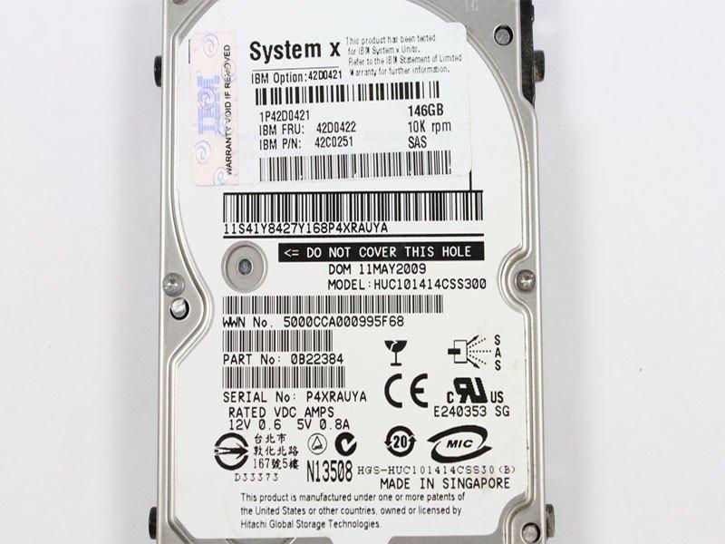 IBM LAPTOP 146GB 2.5IN SAS HDD 42D0421 HUC101414CSS300