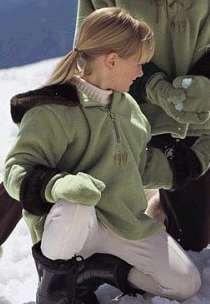 NEW GIRLS FAUX FUR HOODED WARM FLEECE COAT Size Medium 10- 12 Marshall Field's Pullover Green Jacket
