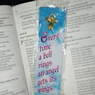 NEW BELL SHAPE ANGEL PIN & BOOKMARK SET Every time a bell rings an angel gets its wings Book Marker