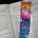 RELIGIOUS NEW CROSS PIN & BOOKMARK SET Whosoever will come after me, let him deny himself... Marker