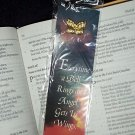 "NEW RELIGIOUS WINGS PIN & BOOKMARK SET ""Everytime a bell rings an angel gets its wings"" Book Marker"