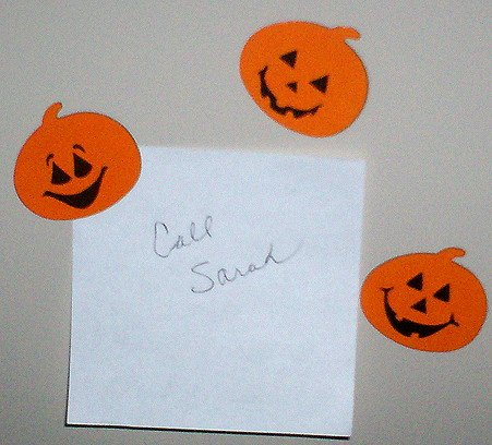 NEW HALLOWEEN PUMPKIN MAGNETS 6 PC SET Holiday Jack-O-Lanterns Kitchen Refrigerator Magnetic Decor