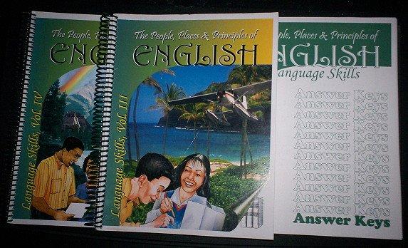 The People, Places & Principles of English Books Homeschool Vol-3,4 +Parent/Teacher Home School