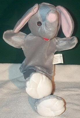 ZOO GRAY ELEPHANT PUPPET NEW THEATER ACTING Children's Full Whole Body Hand Toy