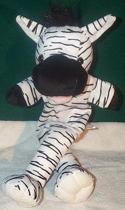 BLACK & WHITE STRIPE ZEBRA PUPPET NEW THEATER ACTING Children's Full Whole Body Hand Toy