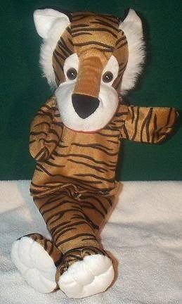 TIGER STRIPE PUPPET NEW THEATER ACTING Children's Jungle Animal Full Whole Body Hand Toy