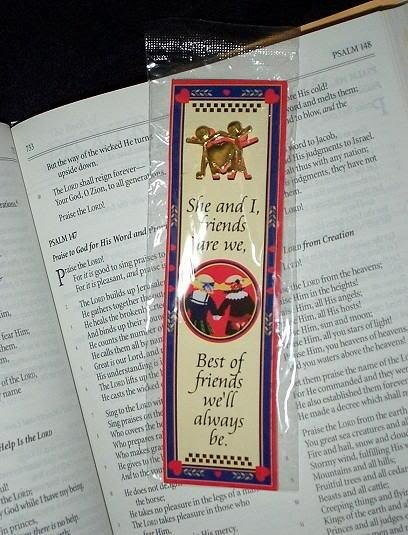 NEW GIRLS WOMEN PIN & BOOKMARK SET She & I friends are we, Best of Friends we'll always be Marker