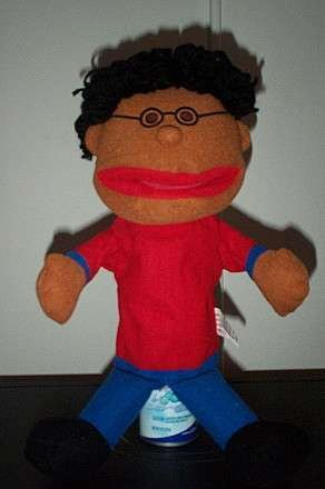 Black Hair Boy Puppet With Glasses Whole Body Children S