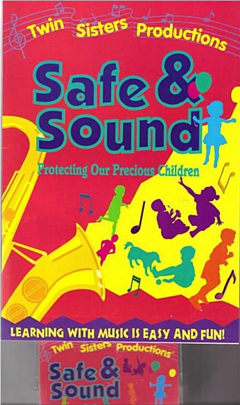 TWIN SISTERS SAFE & SOUND Book Cassette Kids 2 pc Set
