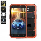 NO.1 M3 Rugged Smartphone - Android OS, IP68, 5 Inch Display, 4G, Dual-IMEI, Quad-Core CPU  (Orange)