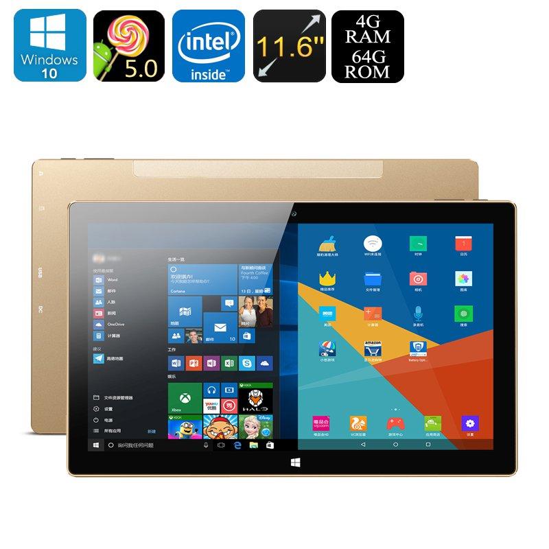"""Onda oBook 11 Plus Tablet PC - Windows 10, Android 5.1, Quad-Core CPU, 4GB RAM, 11.6"""" IPS Display"""