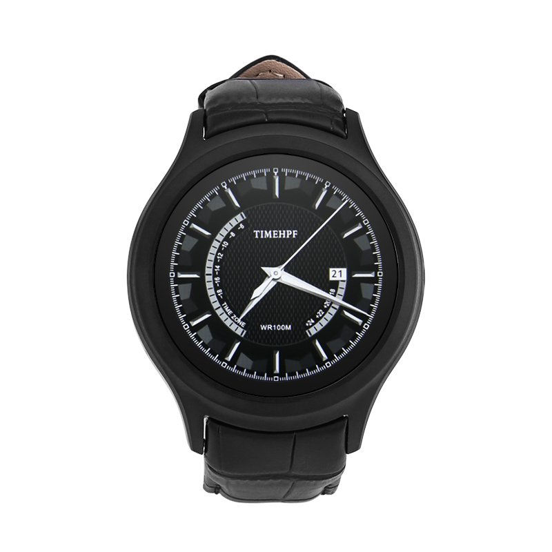 NO.1 D5+ Android Smart Watch - 1.3 Inch Display, Heart Rate, Pedometer, Bluetooth (Black)