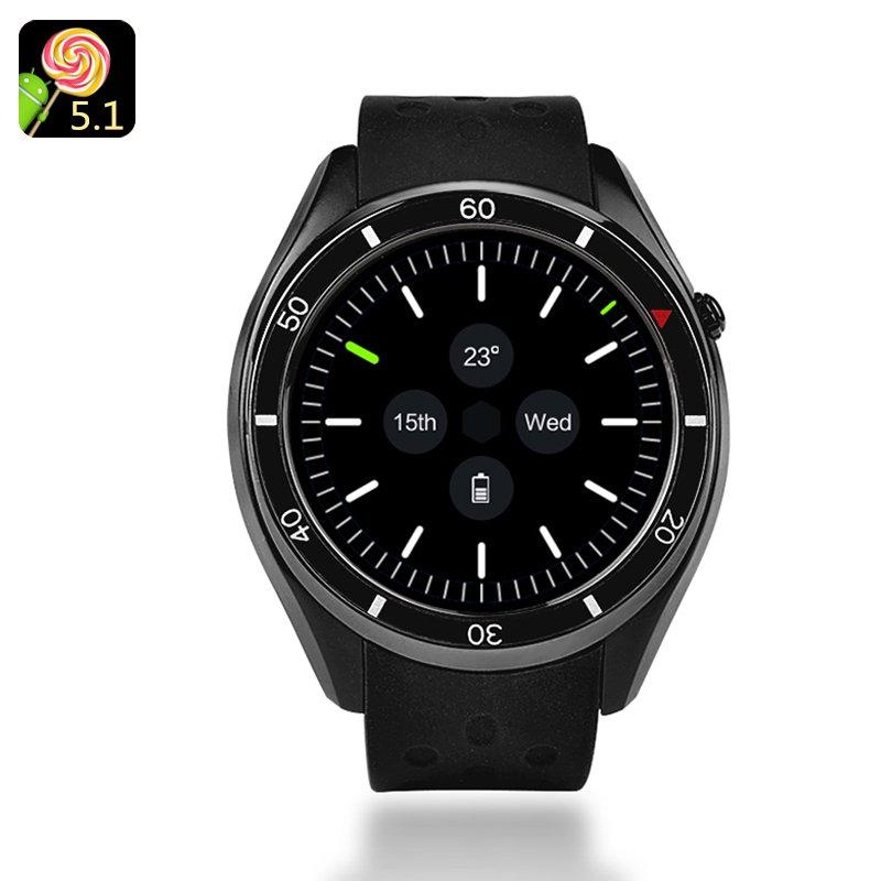 IQI I3 Android Smartwatch - 1.39-Inch Display, 4GB Memory, Quad-Core CPU, Google Play, 3G, Pedometer