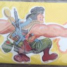 vintage gift wrap rambo guerrilla boys birthday wrapping paper die cut
