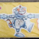 vintage gift Wrap boys paper ROBOT wrapping birthday die cut