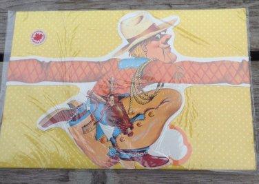 vintage gift wrap boys cowboy birthday gift happy wraps die cut