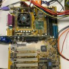 ABIT Motherboard with CPU , Ram, and drivers disk, ISA socket