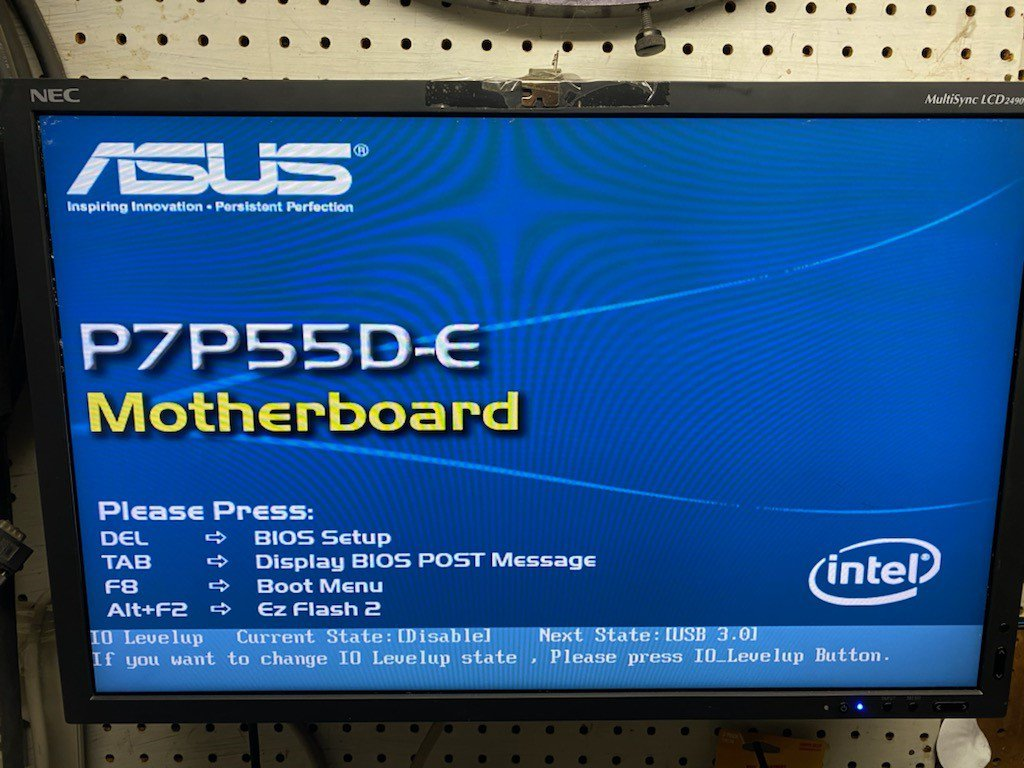 ASUS P7P55D-E motherboard and quad core processor, accessories
