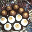 Peanut Butter White Chocolate Buckeyes  1 Dozen