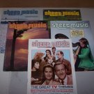 sheet music magazine lot of 5 1978 and 1985.